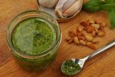 Home made fresh pesto — Stock Photo