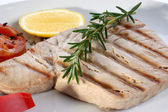 Tuna steak with red paprika — Stock Photo