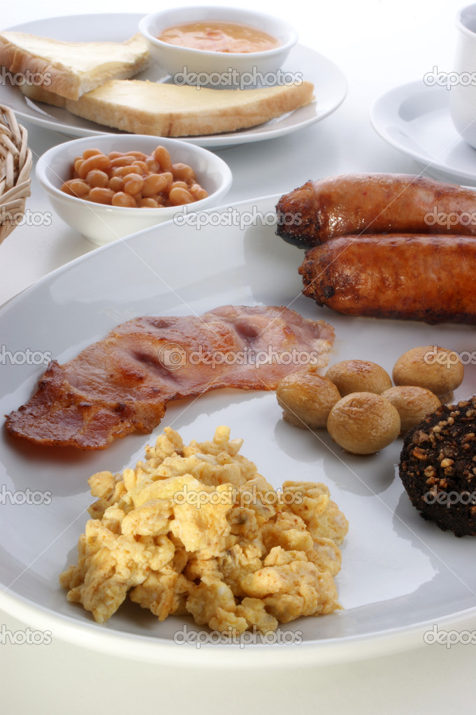 Traditional irish breakfast in some very different variations — Stock Photo #1549224