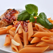 Home made organic tomato pasta — Stock Photo #1551112