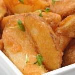Some fried potato wedges — Stock Photo