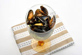 Some fresh organic mussel — Stock Photo