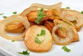 Roasted potato with onion — Stock Photo