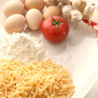 How to make home made noodles — Stock Photo