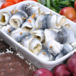 Royalty-Free Stock Photo: Some fresh organic rollmops