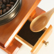 Old fashion coffee grinder — Stock Photo