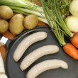 Sausage and some fresh vegetables — Stock Photo #1597694