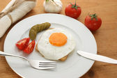 Fried egg on toast — Stockfoto