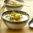 Stock Photo: Asifish soup with noodle