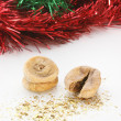 Fig and christmas decoration — Stock Photo