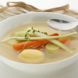 Stock Photo: Vegetable soup with organic carrot