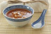 Organic asian vegetable soup — Stock Photo