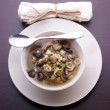 Noodle soup with organic mushroom — Stock Photo