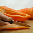 How to cut chilli — Stock Photo