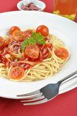 Home made spaghetti — Stock Photo
