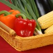 Stock Photo: Sweet corn and fresh pepper