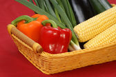 Sweet corn and fresh pepper — Stock Photo