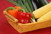 Sweet corn and fresh pepper — Stock Photo