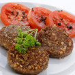 Meat balls with parsley and tomato — Stock Photo