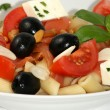 Mediterranean salad with cheese — Stock Photo