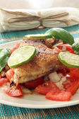 Roasted delicious chicken — Stock Photo