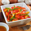 Mediterranean paprika salad — Stock Photo