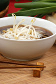 Japanese style noodle soup — Stock Photo