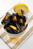 Some fresh organic mussel — Stock Photo