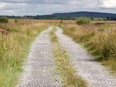 Road with gravel — Stock Photo