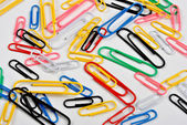 Some coloured paper clips — Stock Photo