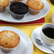 Home made sweet muffins - Stock Photo
