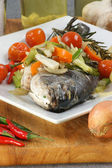 Organic sea bream from greece — Stock Photo
