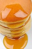 Panqueques y miel — Foto de Stock