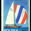 Vintage postage stamp. Sailboat. 40gr — Stock Photo