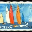 Vintage postage stamp. Sailboat. 50gr — Stock Photo