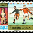 Royalty-Free Stock Photo: Postage stamp. World  football cup
