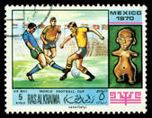 Postage stamp. World football cup — Stock Photo