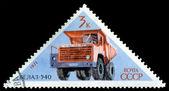 Postage stamp. Car BELAZ - 540 — Stock Photo