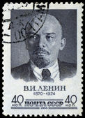 Vintage postage stamp with Lenin — Stock Photo