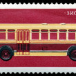 Postage stamp. The bus  ZIS - 154 - Stock Photo