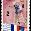 Postage stamp. Olympic games in Mexico. — Stock Photo #1946330