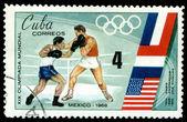 Francobollo. giochi olimpici in messico. — Foto Stock