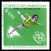 Vintage postage stamp. Winter sports — Stock Photo