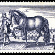 Royalty-Free Stock Photo: Postage stamp. The horse and equestrian