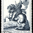 Stock Photo: Vintage postage stamp. horseman