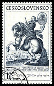 Vintage postage stamp. The horseman — Stock Photo