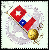 Postmark. World football cup in Chile — Stock Photo