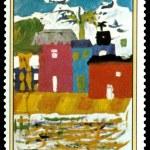 Постер, плакат: Postage stamp Infantile drawings
