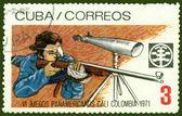 复古邮票。体育 — 图库照片