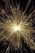 - sparkler in action - brennende Wunderkerze — Stock Photo